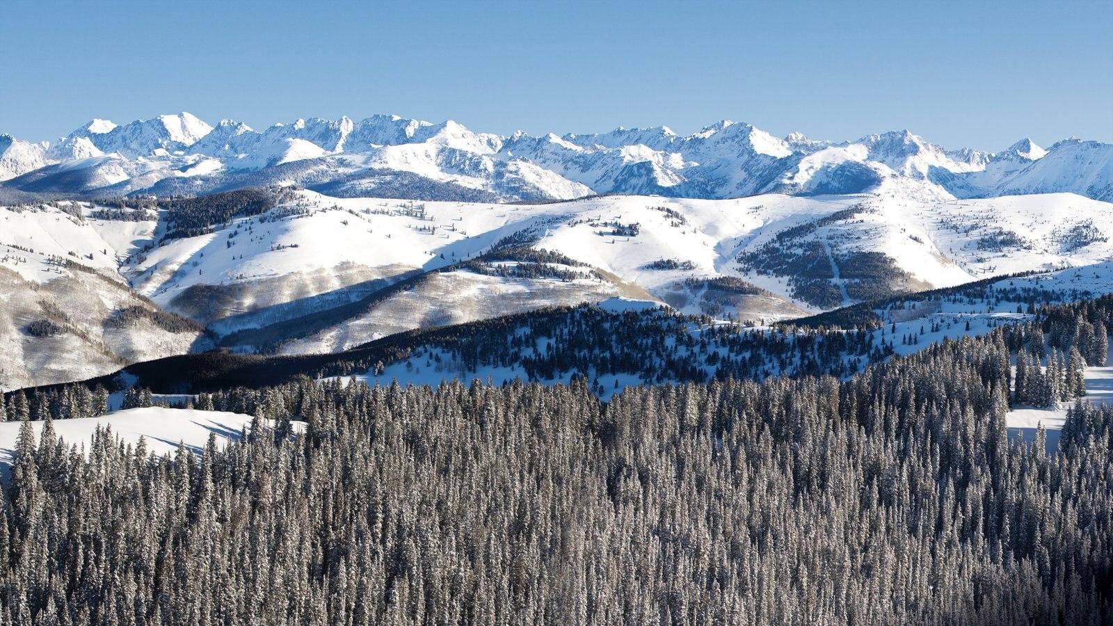 Vail - Beaver Creek mostrando neve, paisagem e montanhas