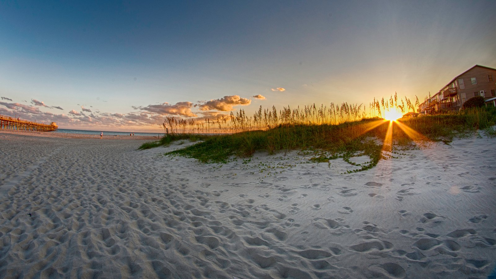 Morehead City Showing A Sunset And Beach
