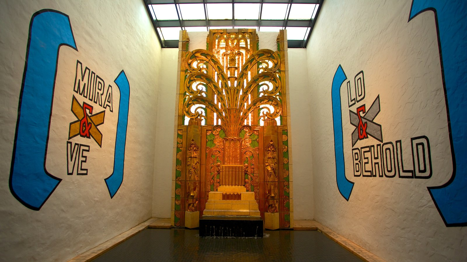 The Wolfsonian Museum featuring interior views and signage