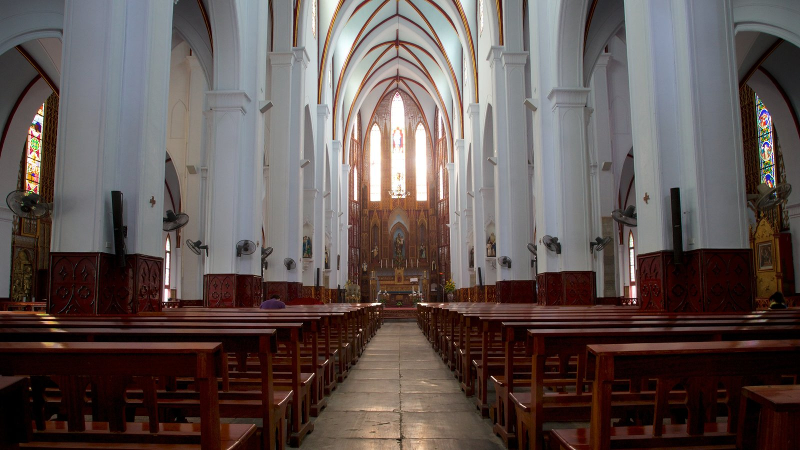 St. Joseph Cathedral which includes religious aspects, interior views and a church or cathedral