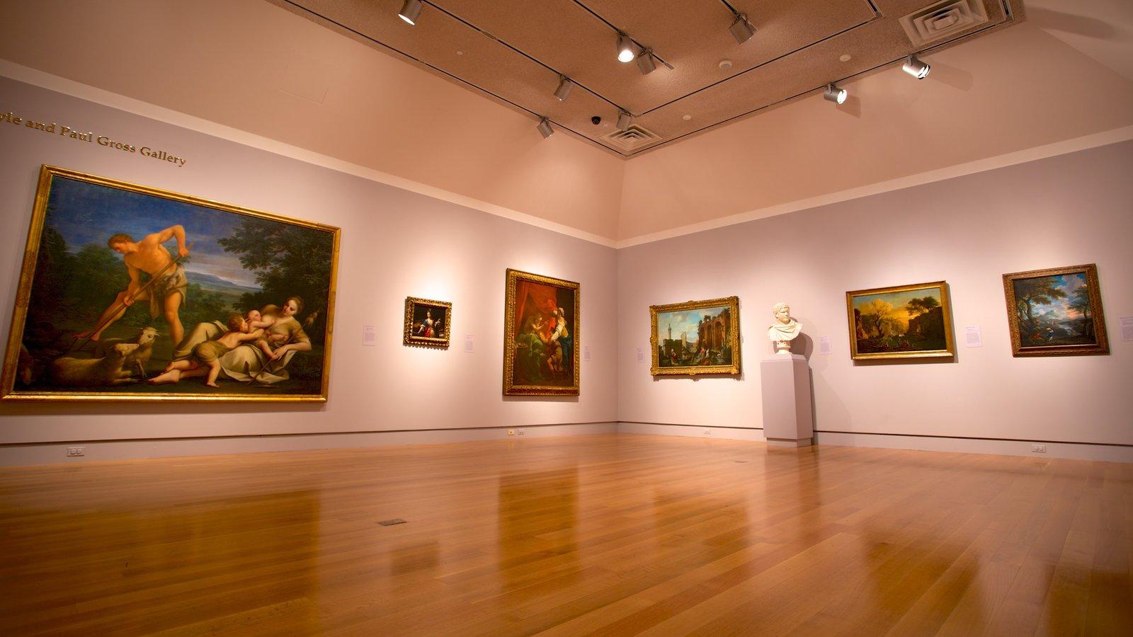 Norton Museum of Art featuring art and interior views