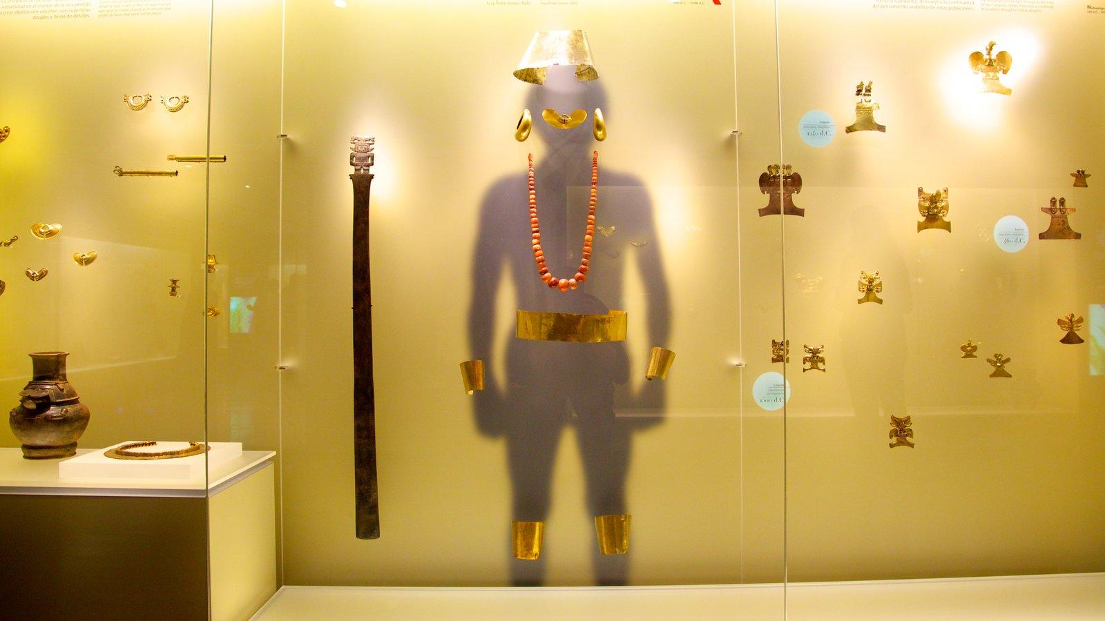 Museo del Oro que inclui vistas internas