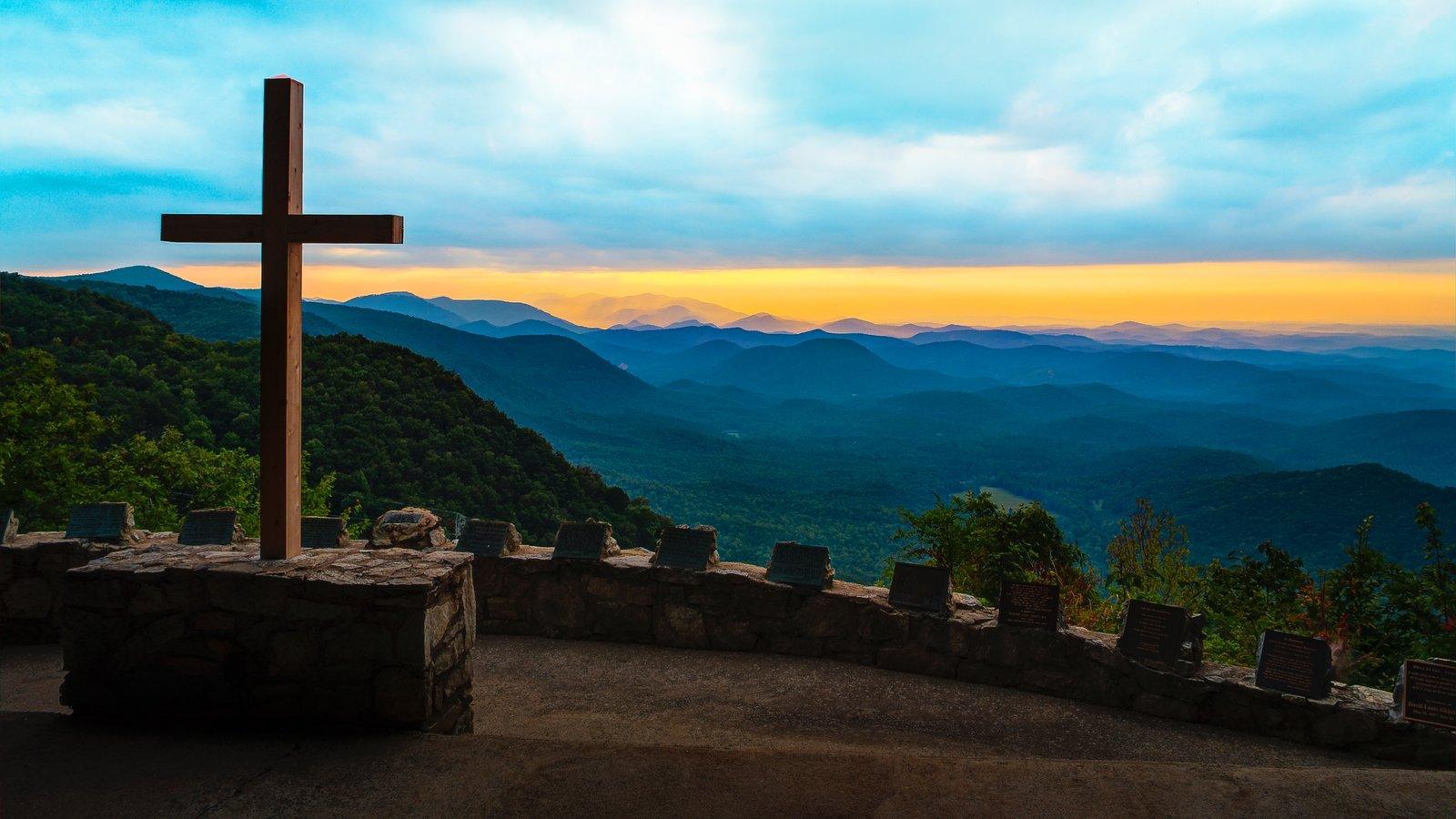 Greenville - Spartanburg mostrando paisagens, um pôr do sol e paisagem