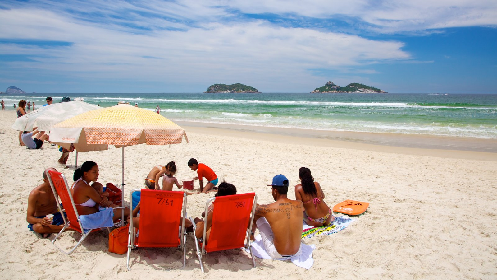 Barra da Tijuca which includes a sandy beach as well as a family