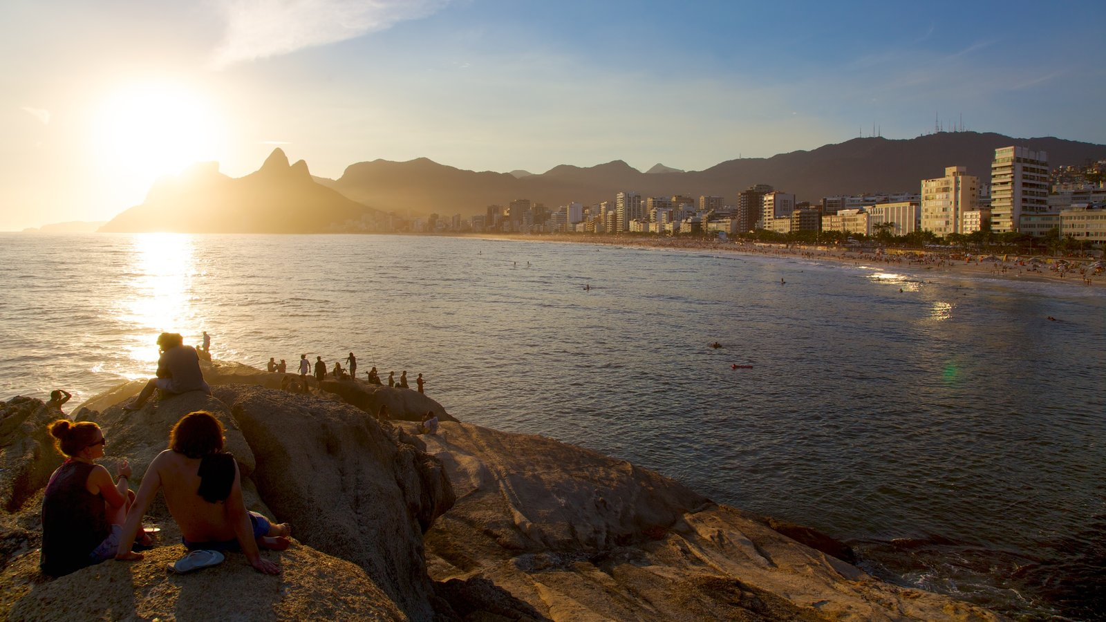 Rio de Janeiro which includes a sunset and general coastal views