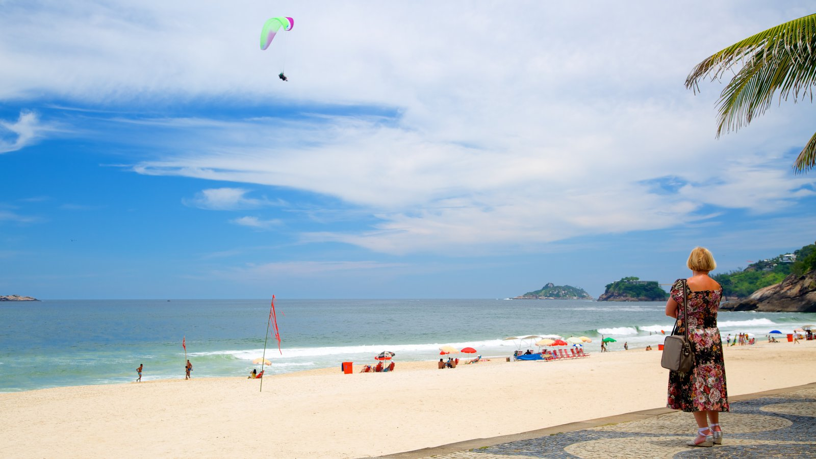Sao Conrado Beach which includes a sandy beach as well as an individual femail