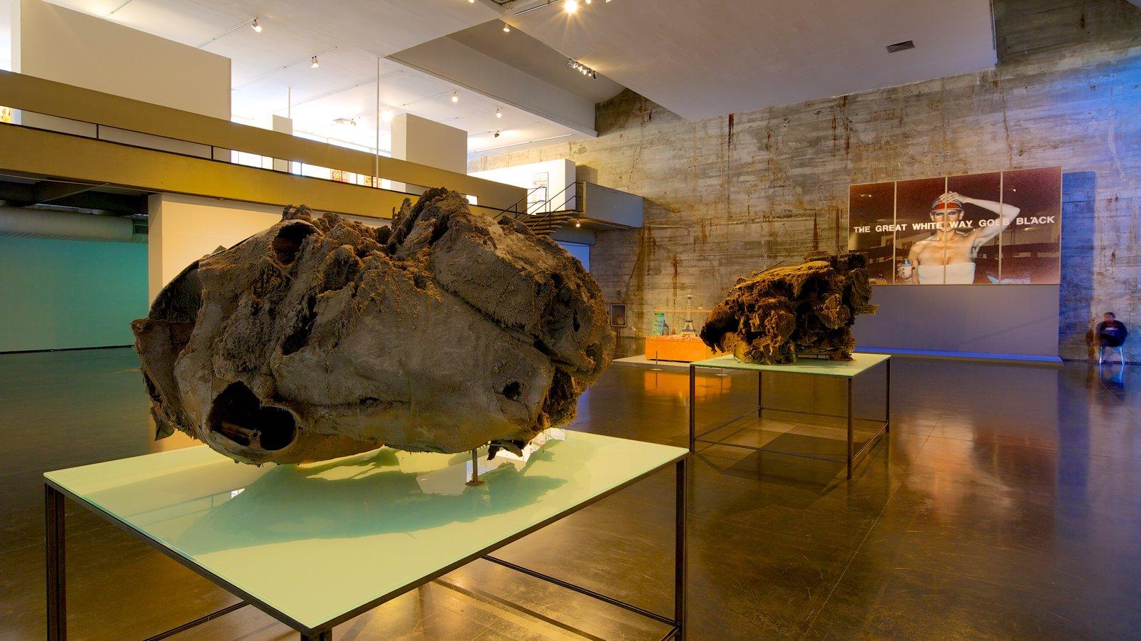 Museu de Arte Moderna mostrando vistas internas