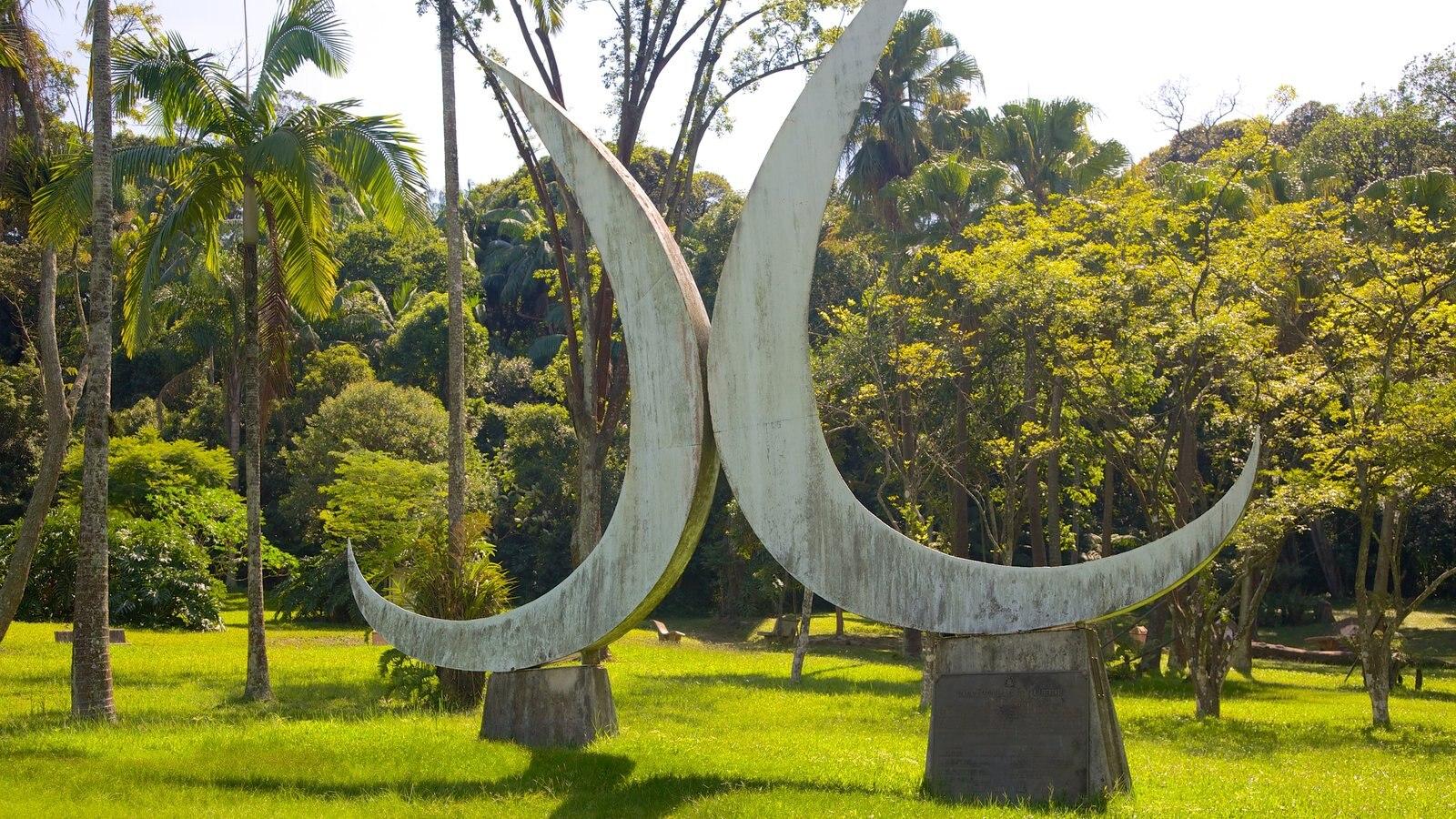 Jardim Botânico de São Paulo caracterizando arte ao ar livre e um parque