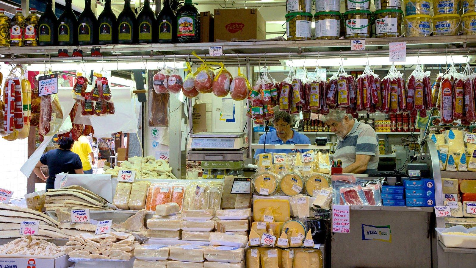 Mercado Municipal que inclui mercados e comida