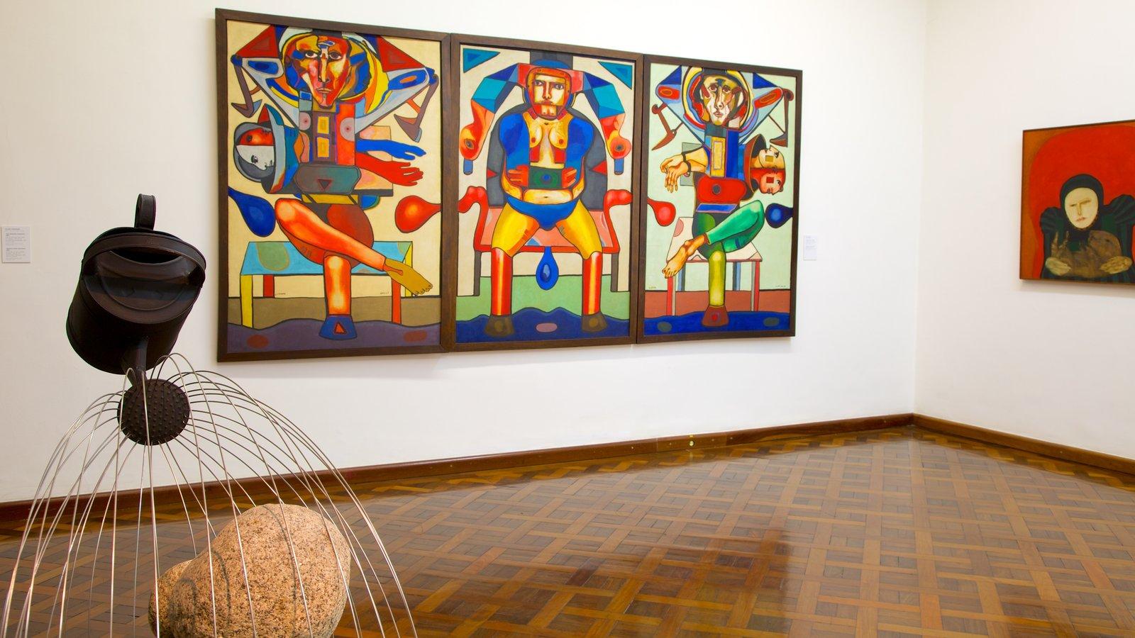 Museu Nacional de Belas Artes que inclui arte e vistas internas