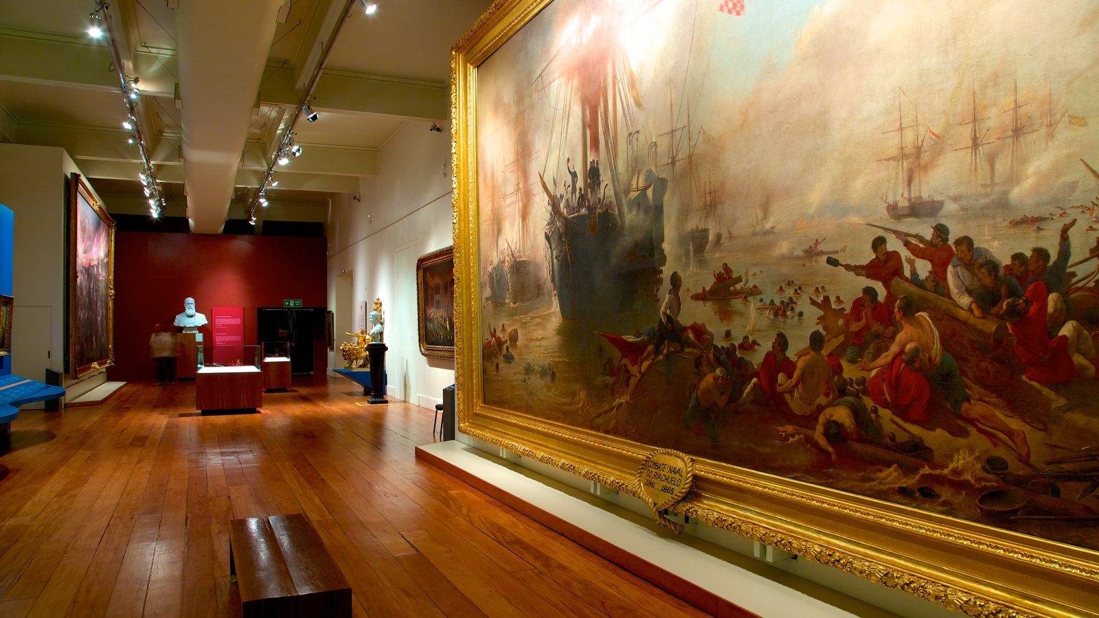 Museu Histórico Nacional mostrando vistas internas e arte