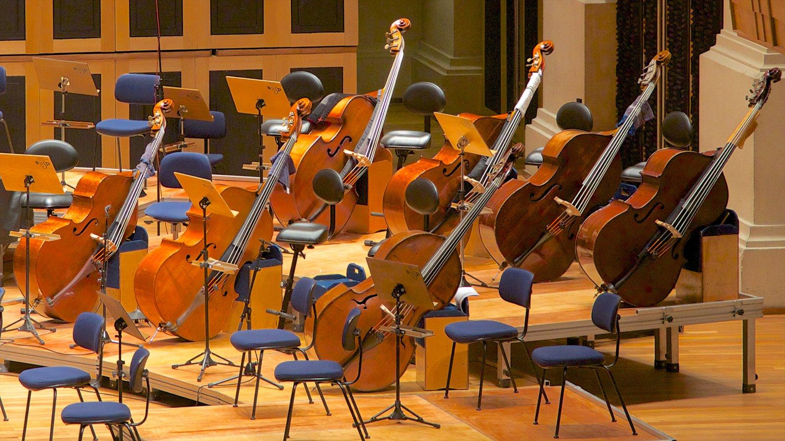 Sala São Paulo mostrando música e vistas internas