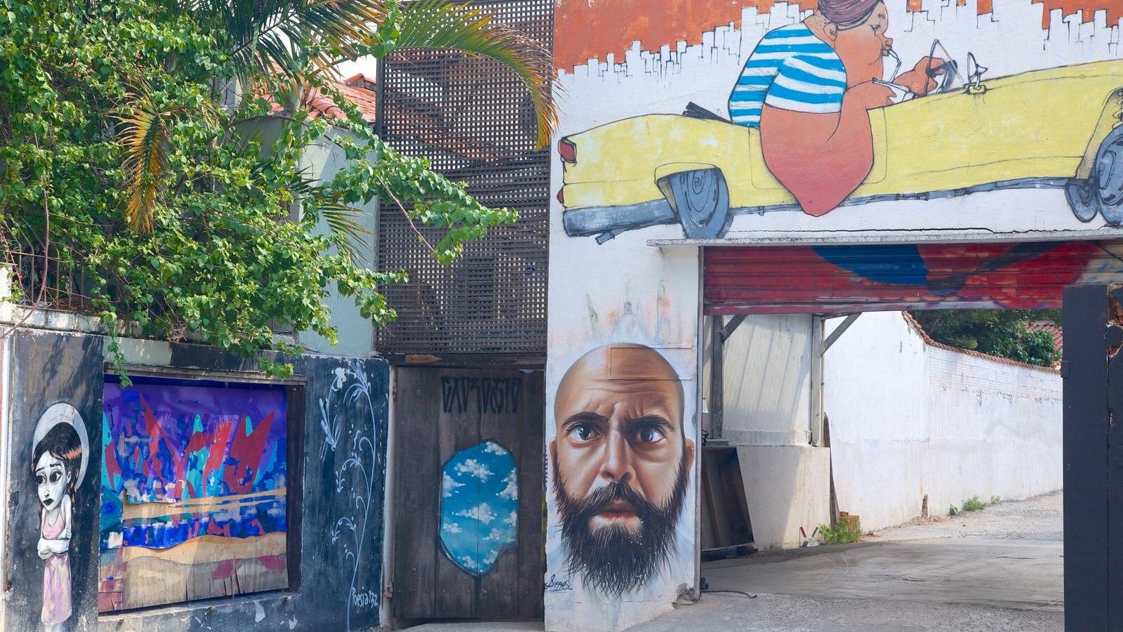 Vila Madalena mostrando arte ao ar livre