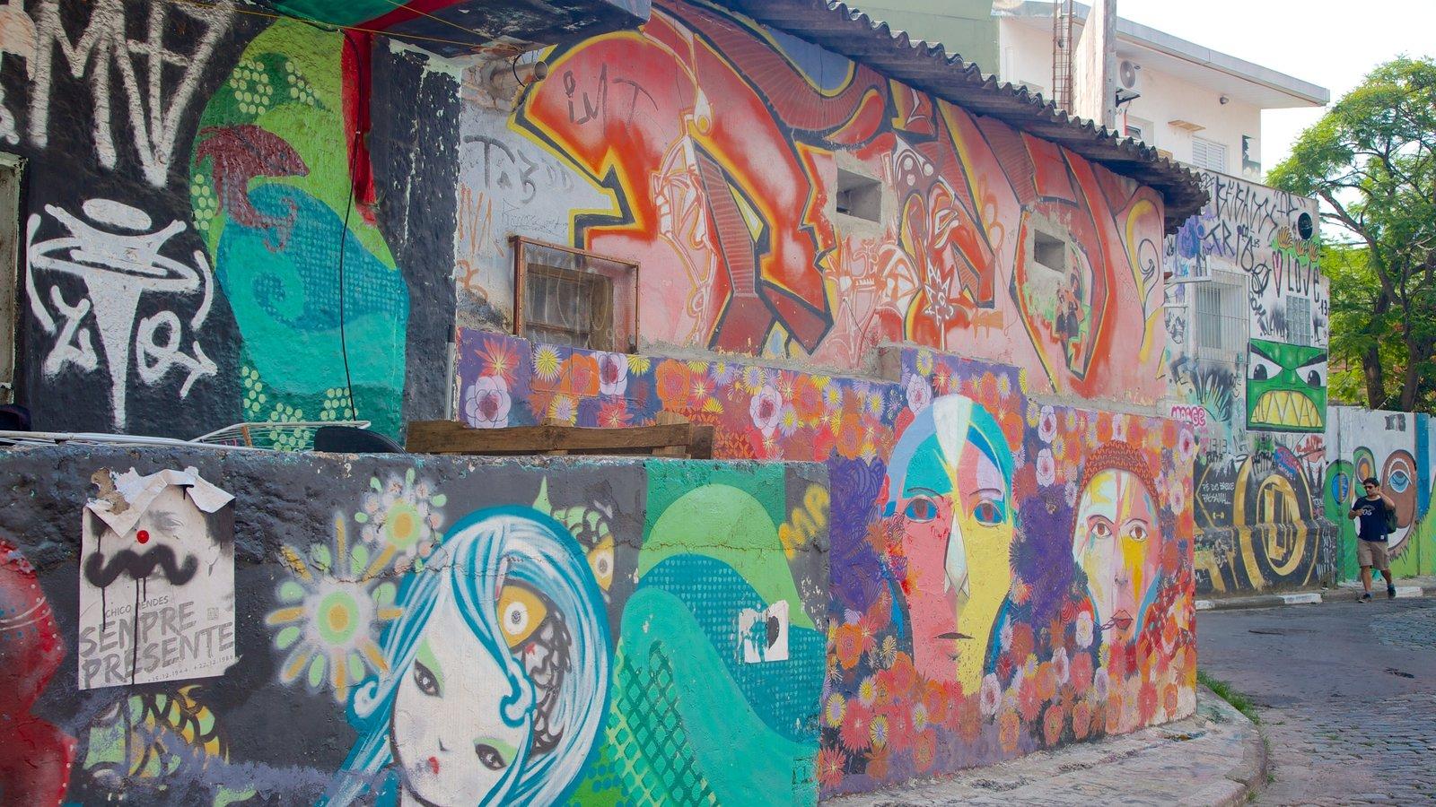 Vila Madalena caracterizando arte ao ar livre