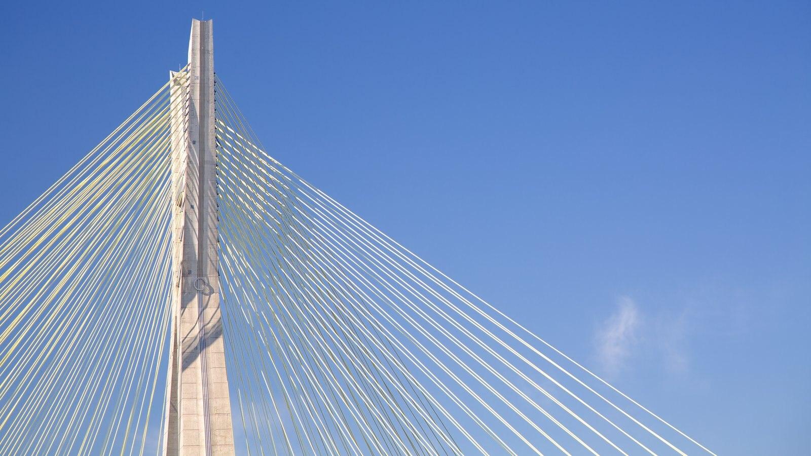Ponte Octávio Frias de Oliveira que inclui arquitetura moderna e uma ponte
