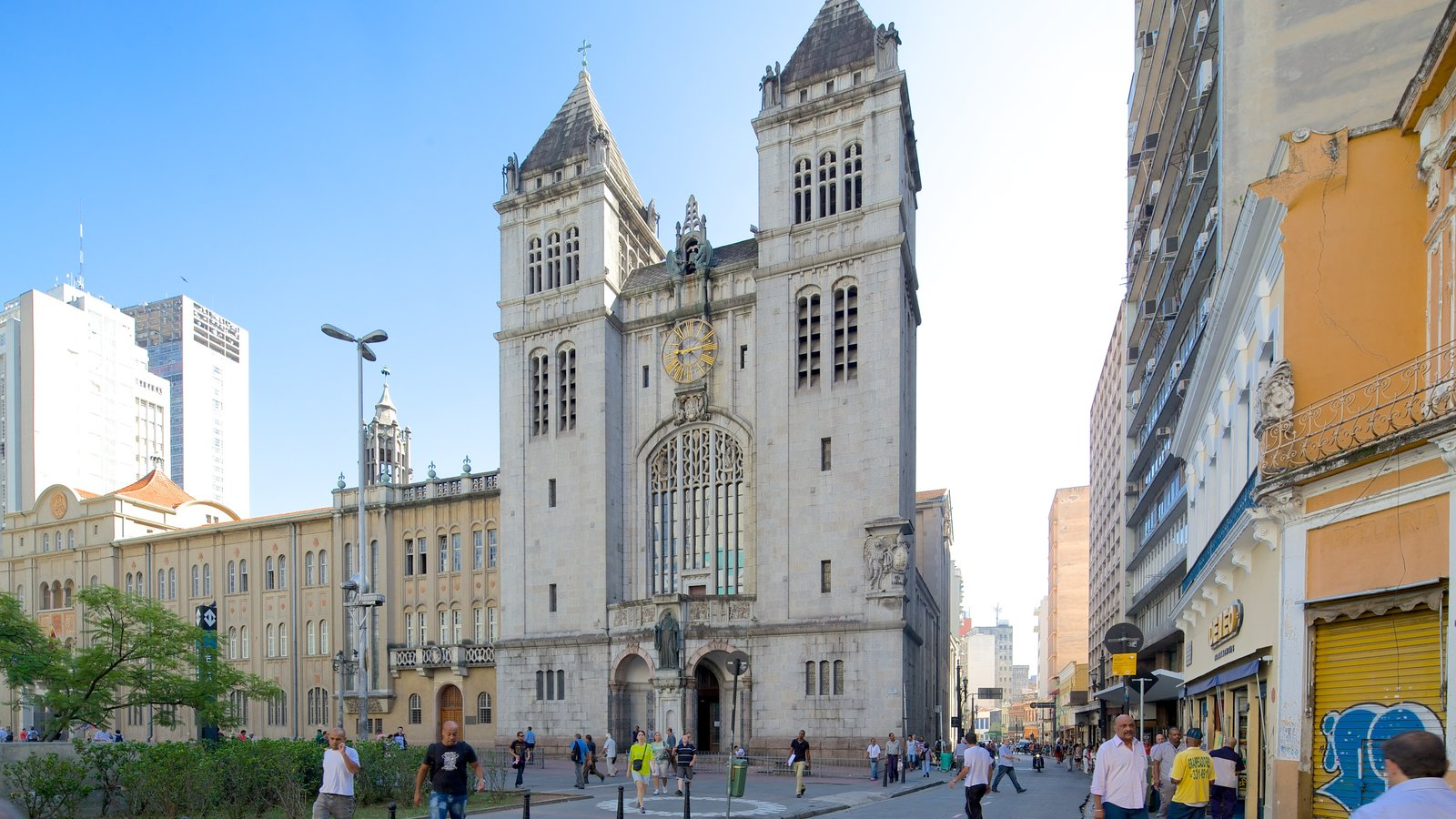 Mosteiro de São Bento caracterizando uma igreja ou catedral, cenas de rua e aspectos religiosos