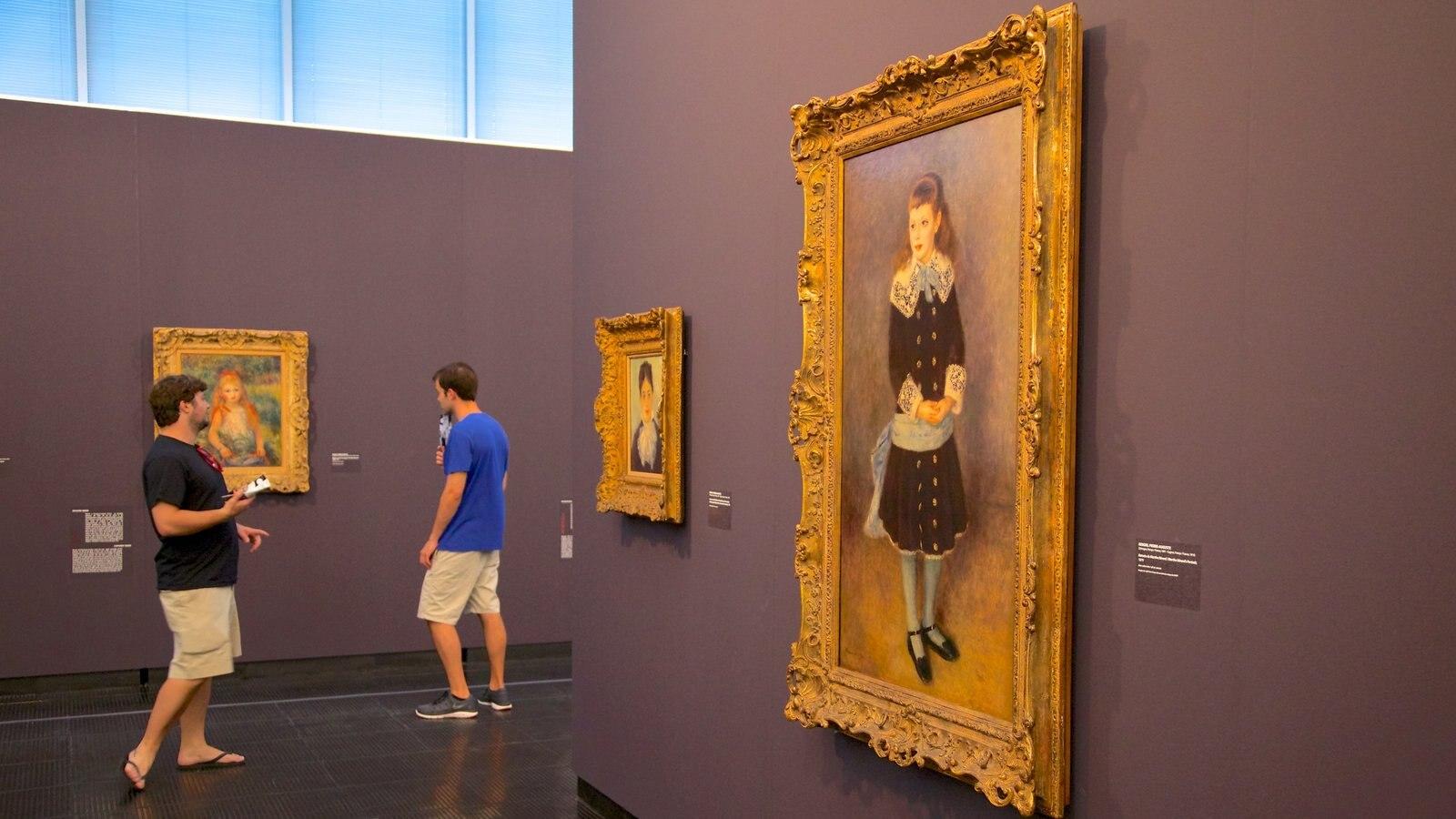 Museu de Arte Moderna mostrando vistas internas e arte