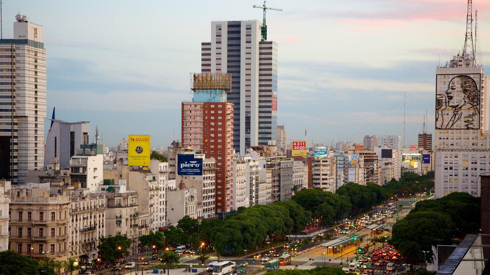 Buenos Aires caracterizando uma cidade e um edifício