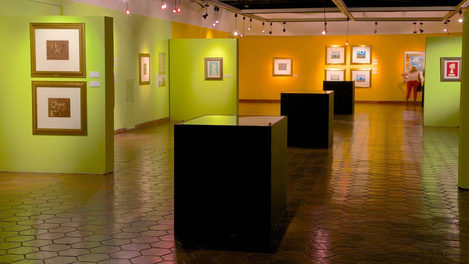 Museo de Arte Moderno caracterizando arte e vistas internas