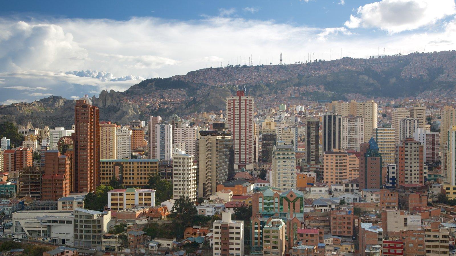 La Paz mostrando uma cidade