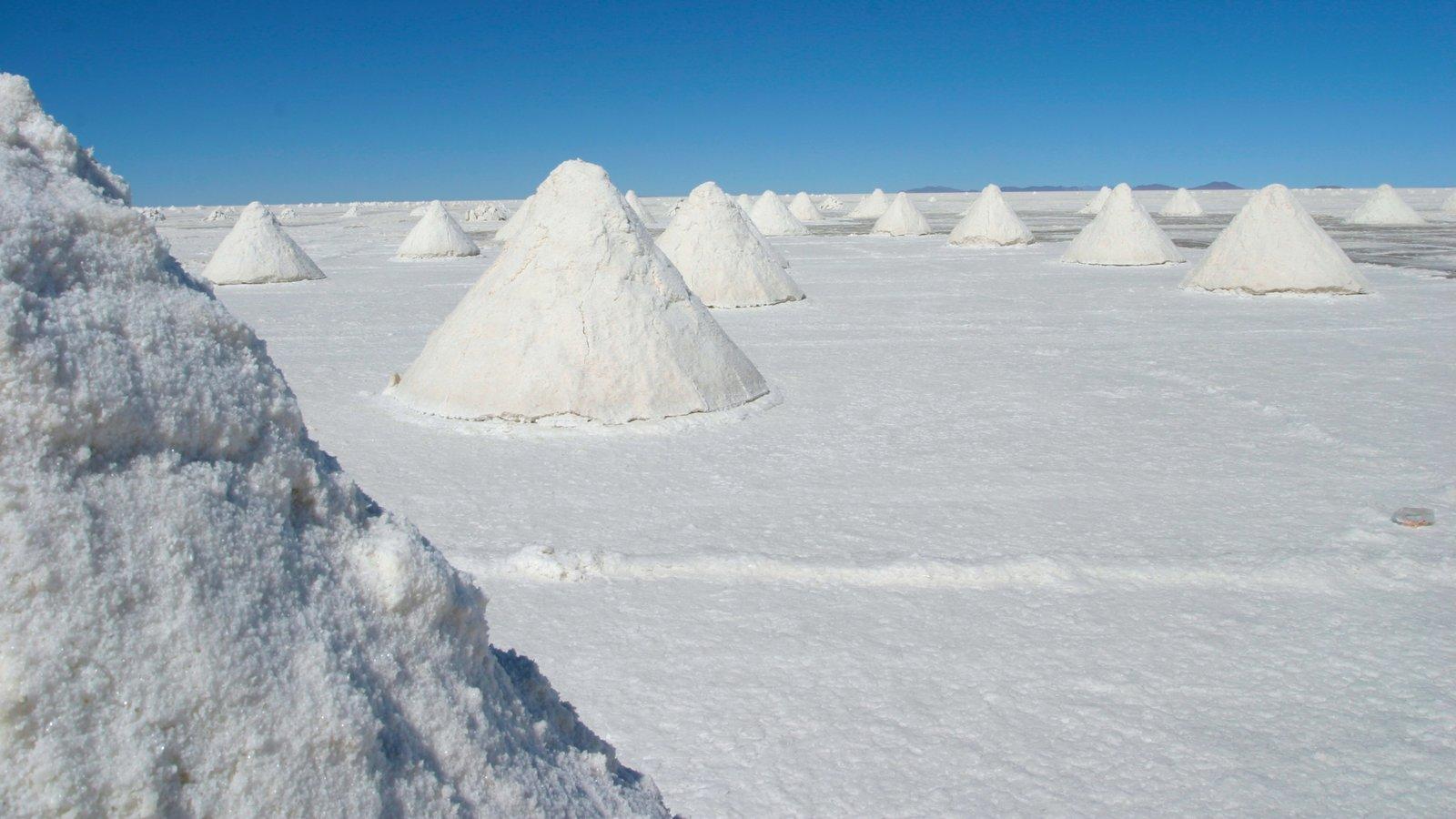 Salar de Uyuni que inclui um lago ou charco