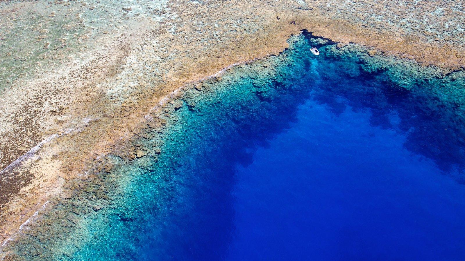 Polinesia Francesa mostrando vistas generales de la costa