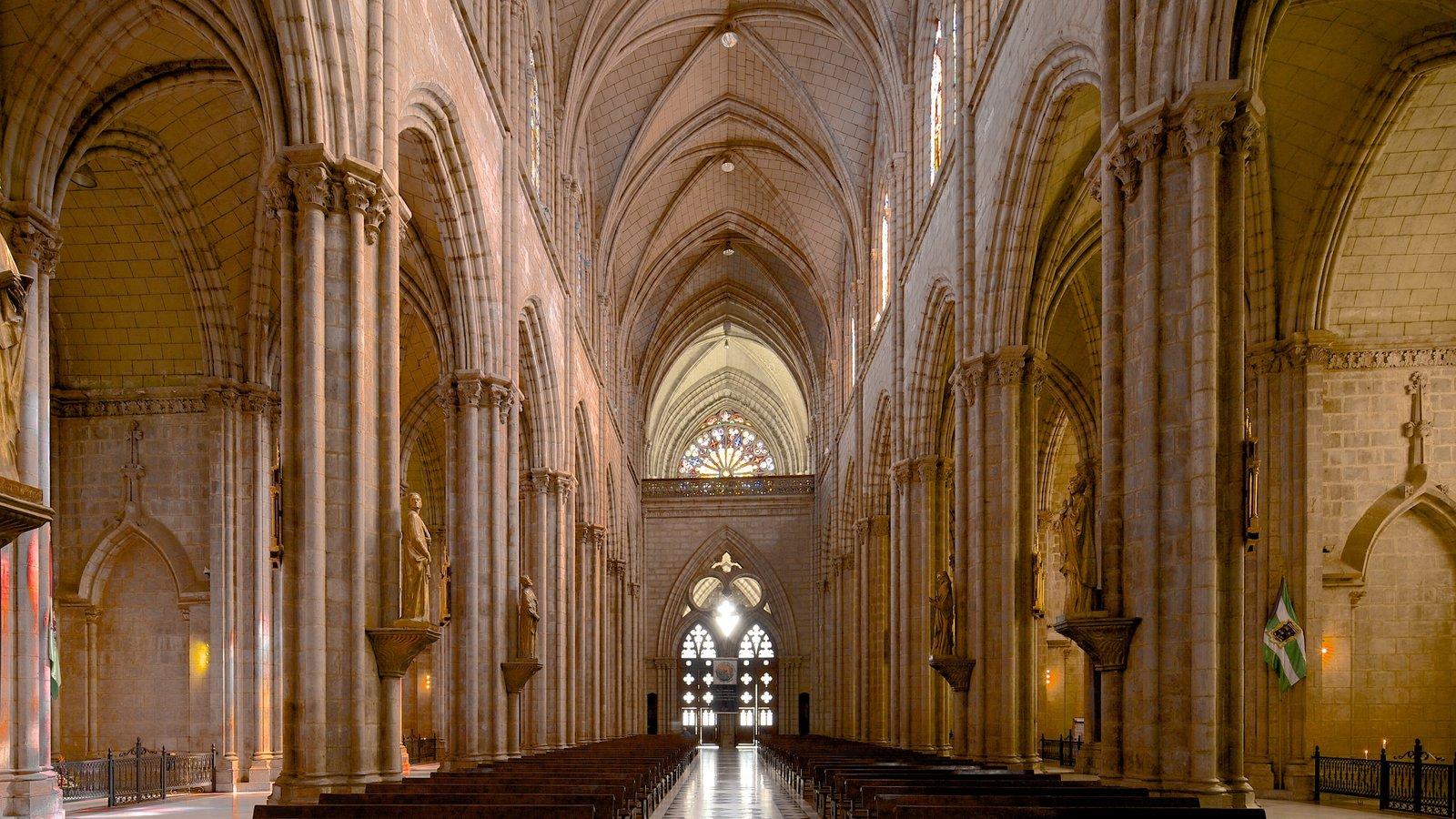 Basílica do Voto Nacional que inclui vistas internas, uma igreja ou catedral e aspectos religiosos