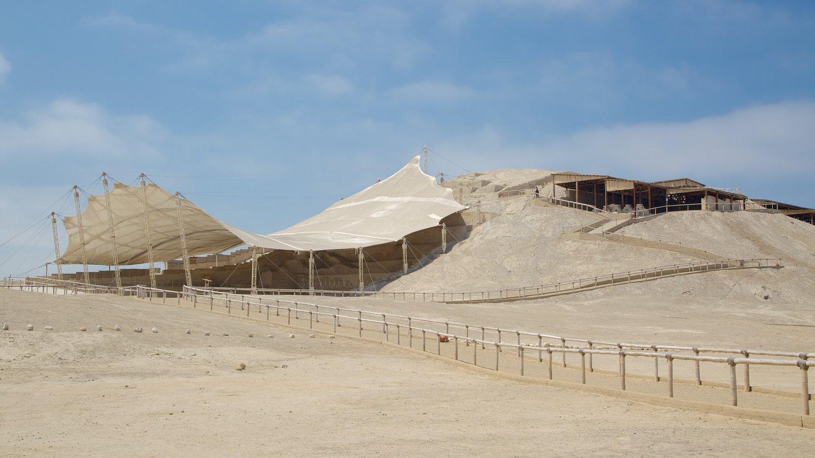 El Brujo mostrando paisagens do deserto