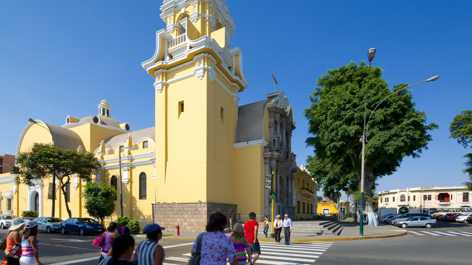Barranco which includes street scenes as well as a large group of people