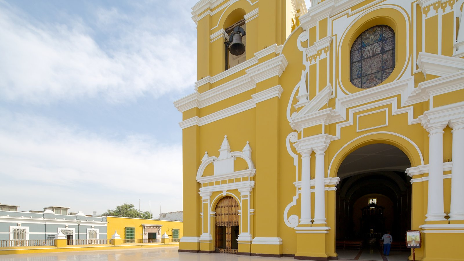 Trujillo Cathedral featuring a church or cathedral and heritage architecture