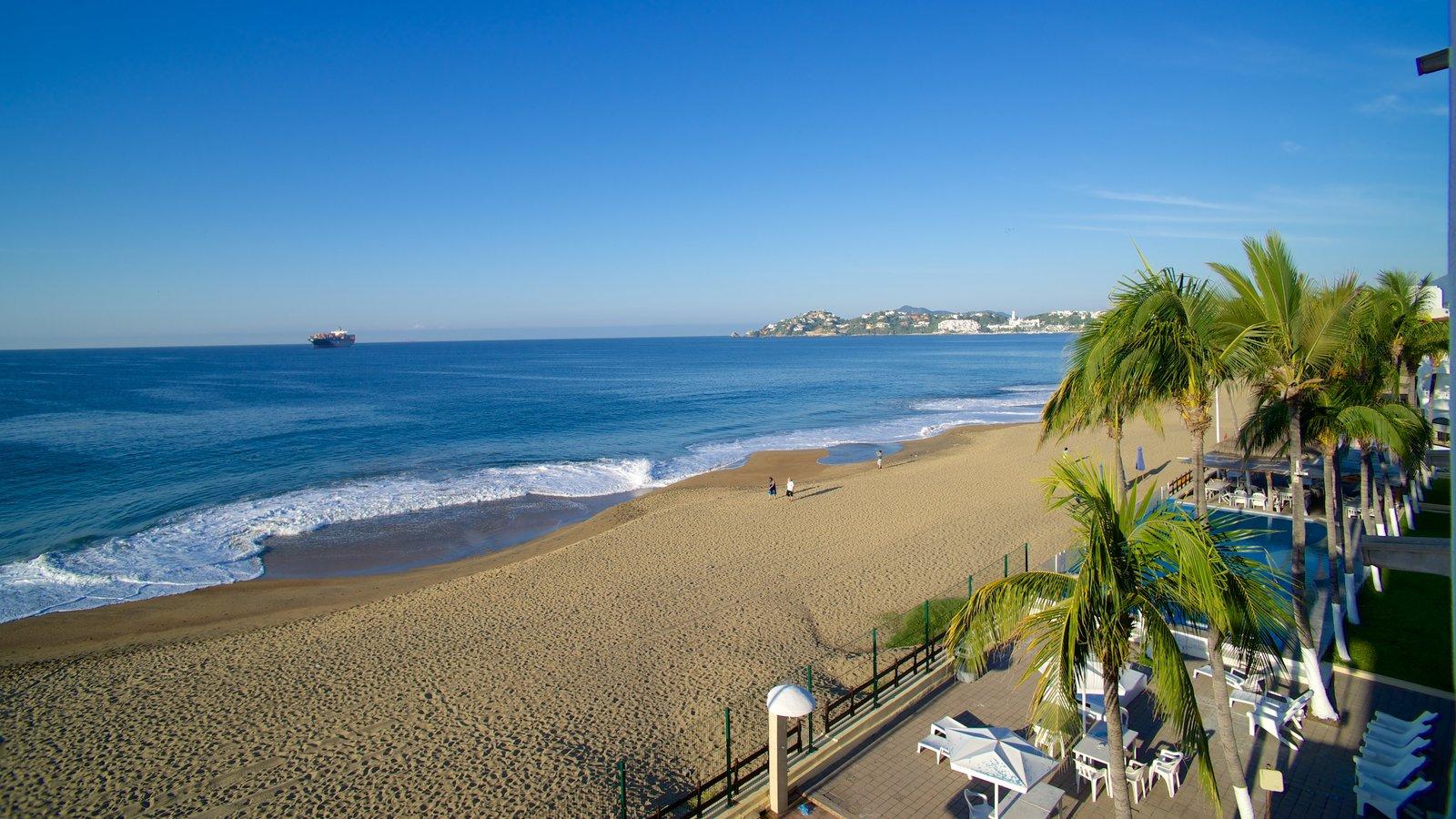 Manzanillo que incluye un hotel o resort de lujo, escenas tropicales y una playa