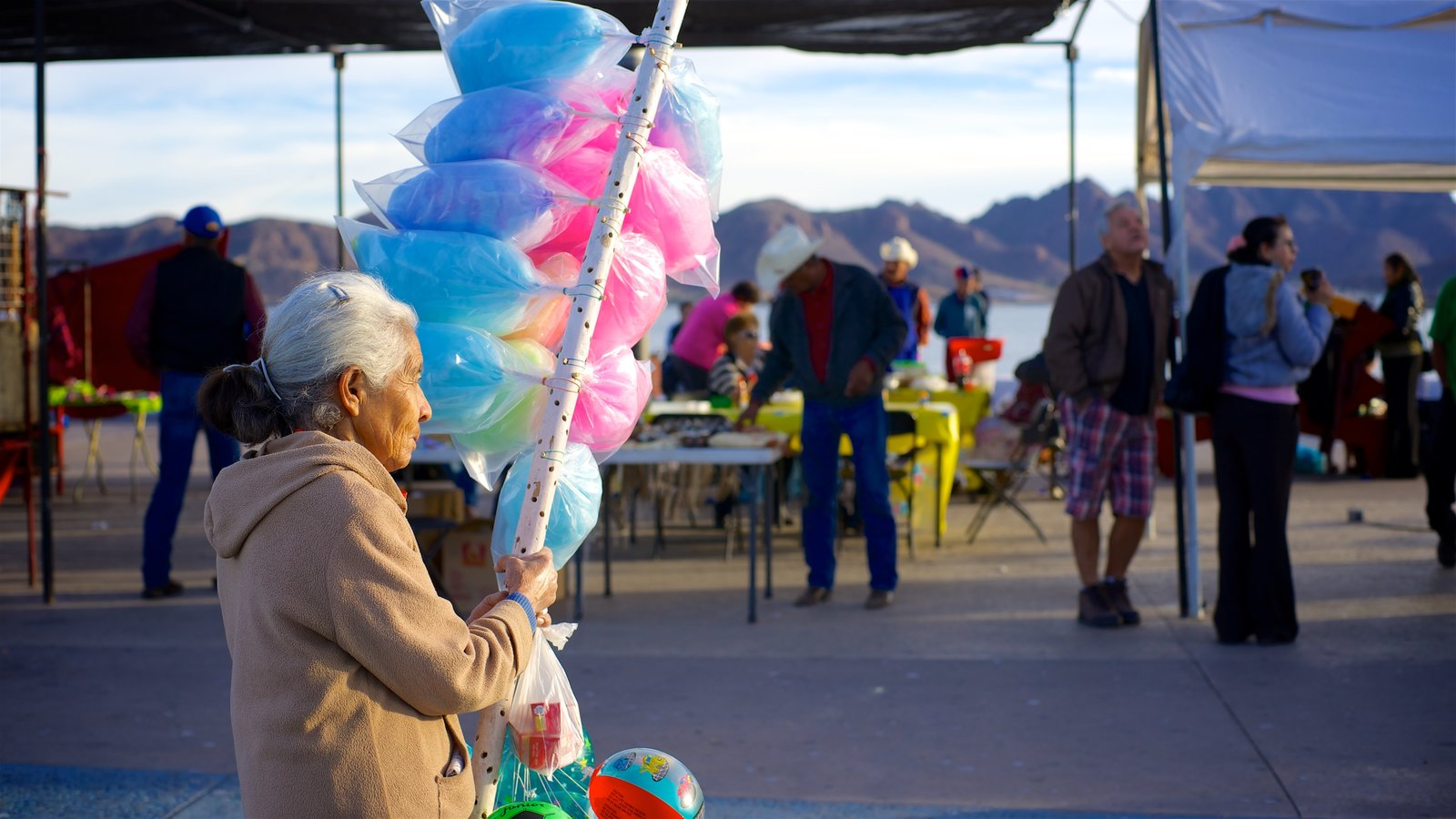 Guaymas featuring street scenes as well as an individual femail