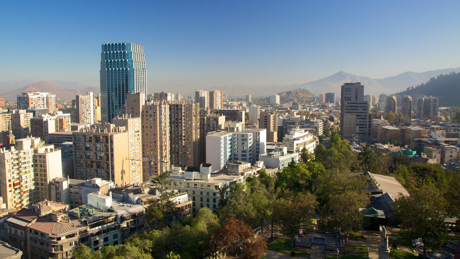 Santiago caracterizando cbd, paisagem e uma cidade