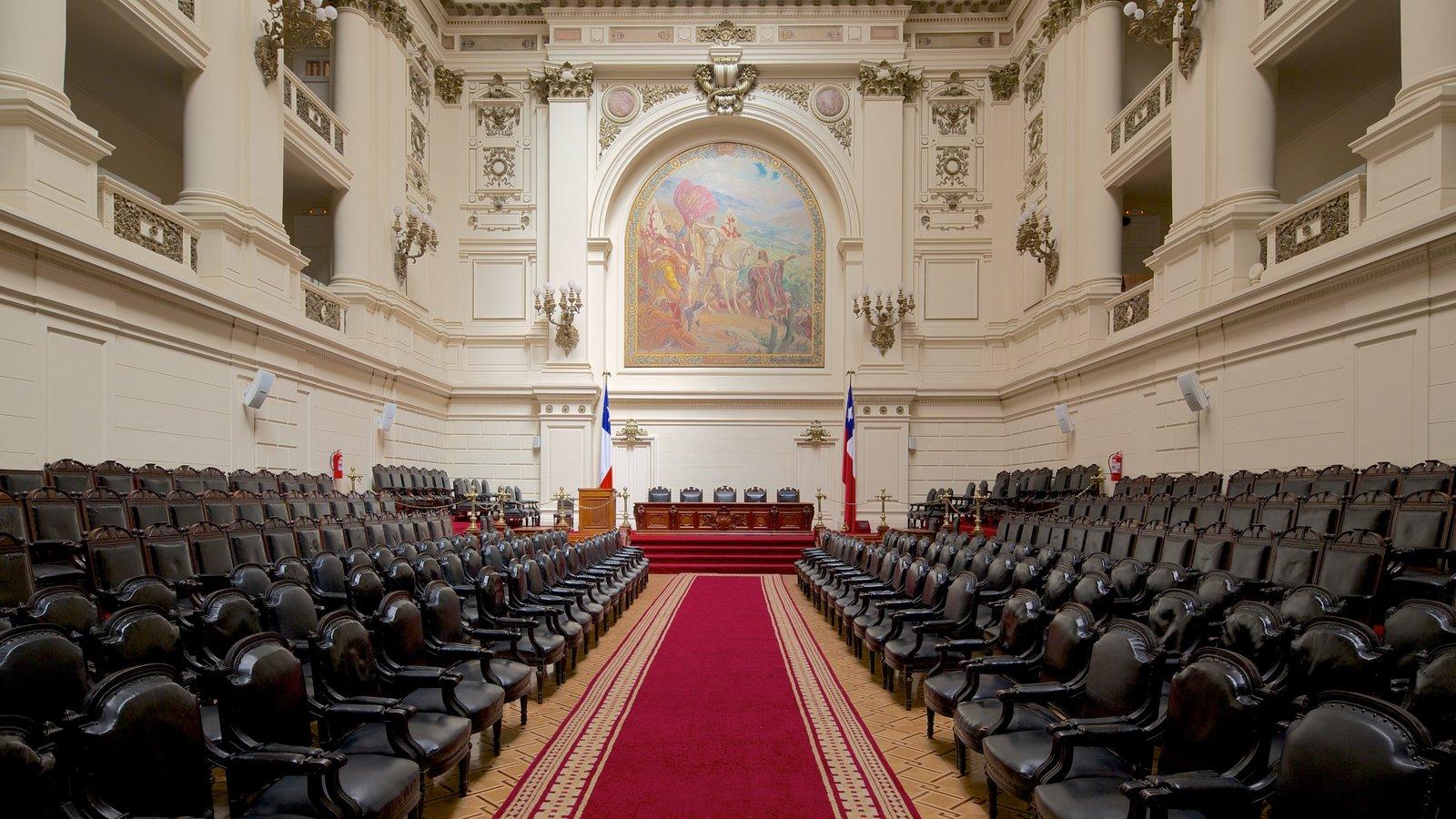 Ex-Congresso Nacional que inclui arquitetura de patrimônio, vistas internas e um edifício administrativo