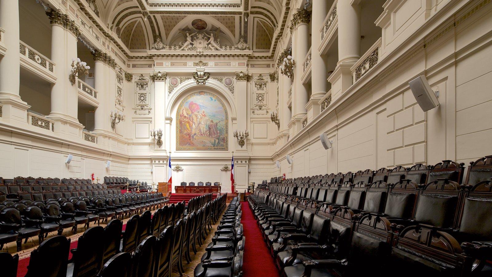 Ex-Congresso Nacional caracterizando vistas internas, arquitetura de patrimônio e um edifício administrativo