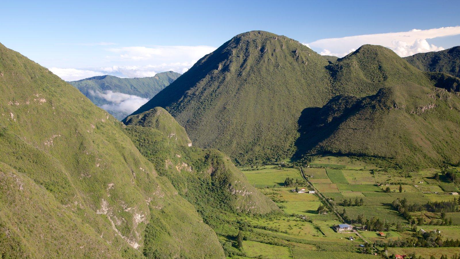 Quito que inclui paisagem, montanhas e fazenda
