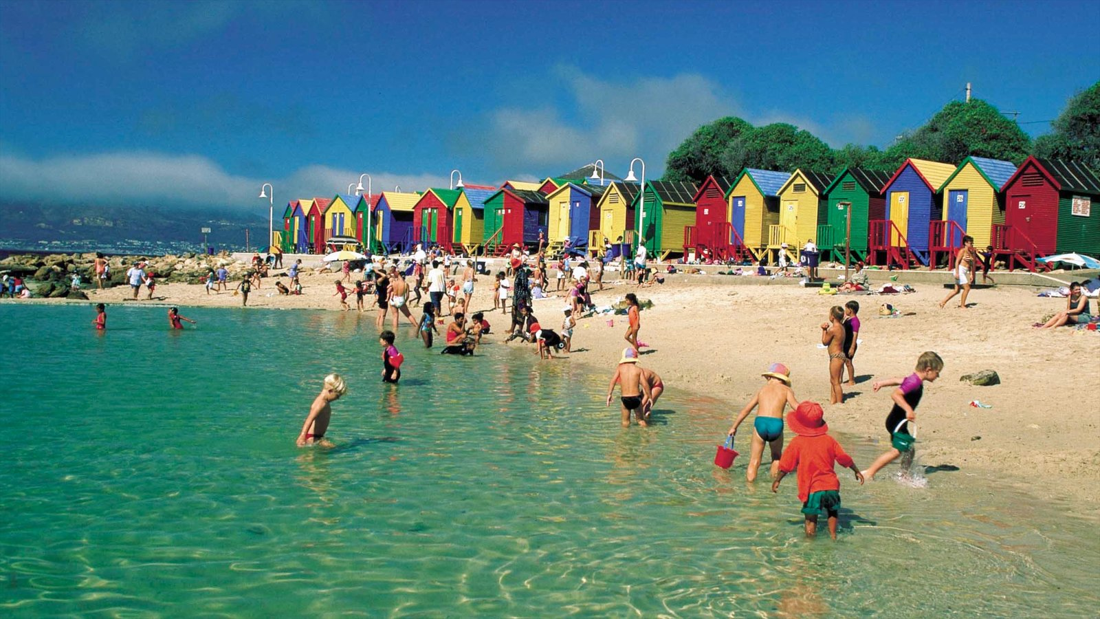 Cape Town showing a sandy beach and general coastal views as well as children