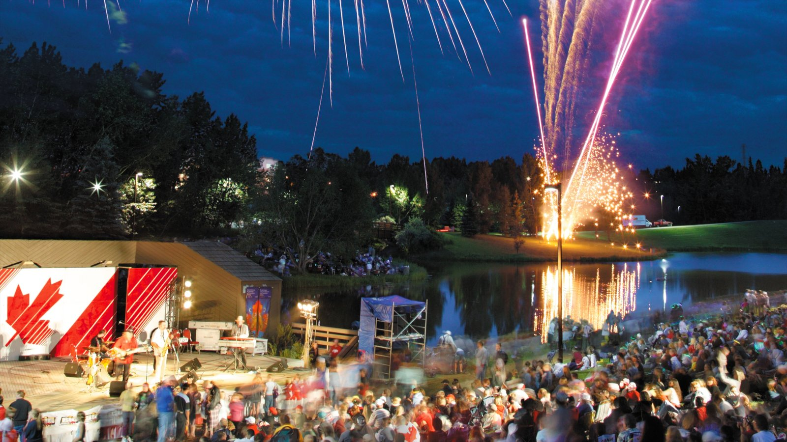 Red Deer featuring a festival, nightlife and performance art