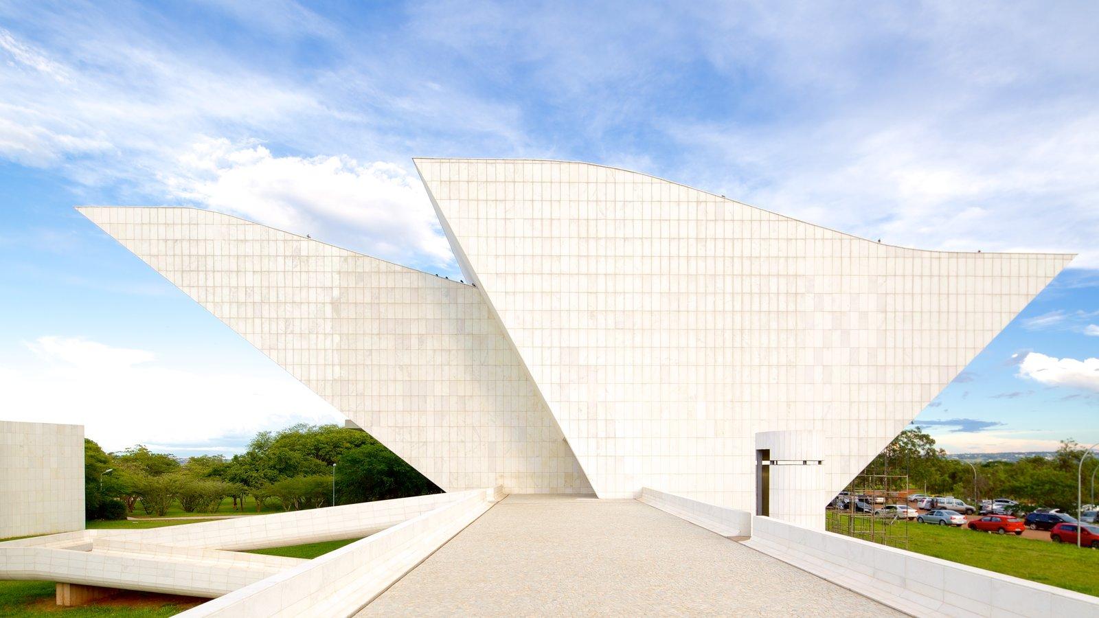 Panteão da Liberdade que inclui um memorial e arquitetura moderna