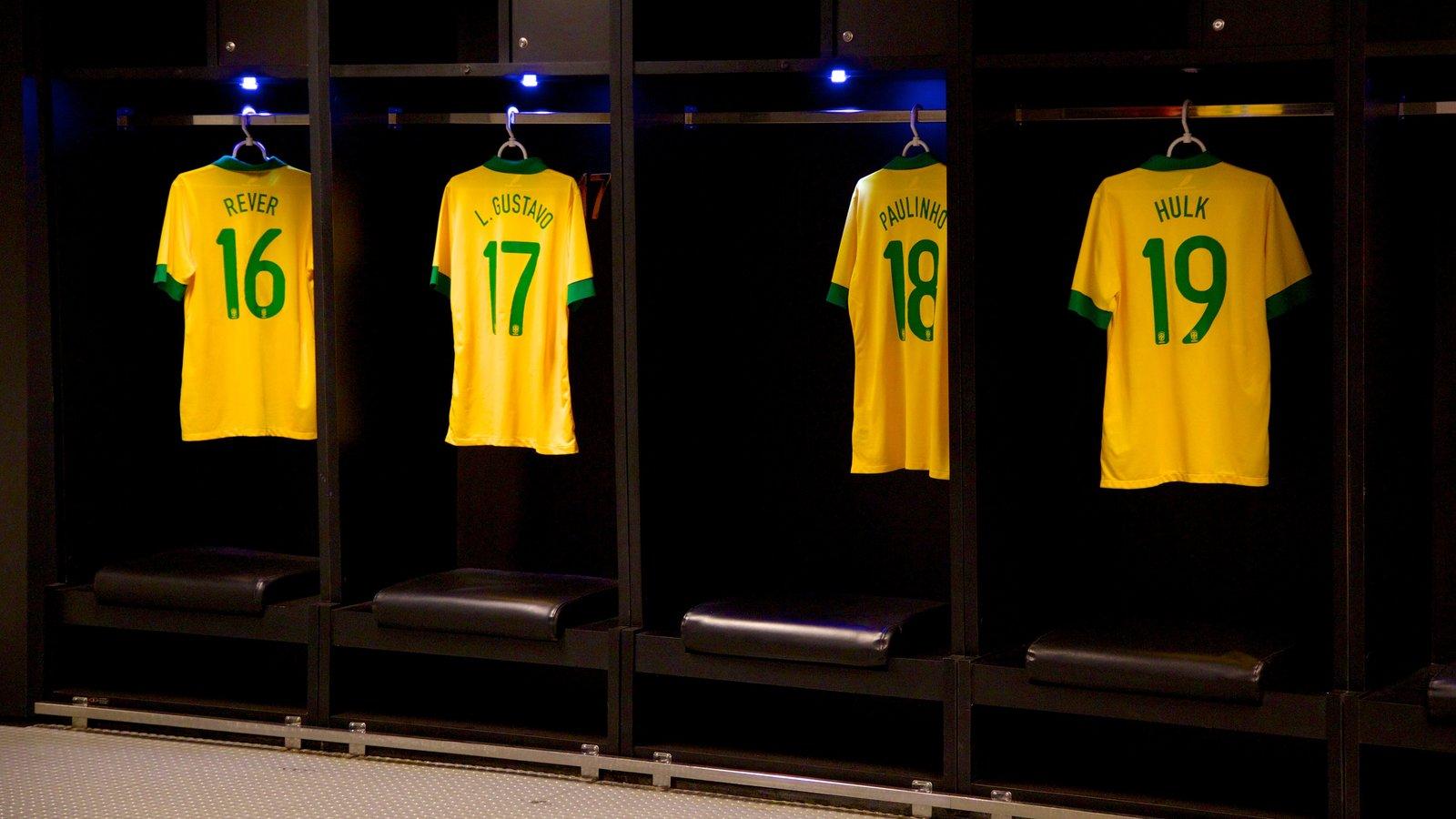 Estádio Mário Filho caracterizando vistas internas