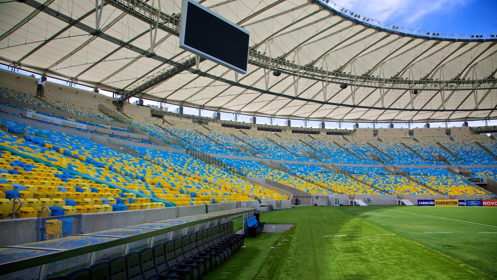 Estádio Mário Filho que inclui arquitetura moderna e vistas internas