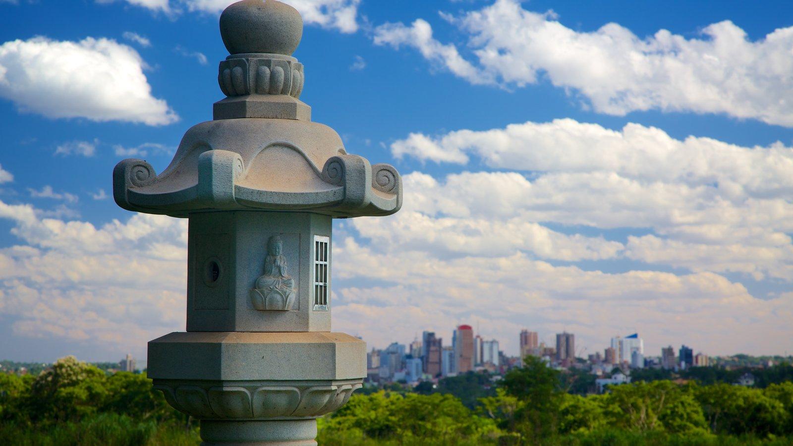 Templo Budista caracterizando um templo ou local de adoração e elementos religiosos
