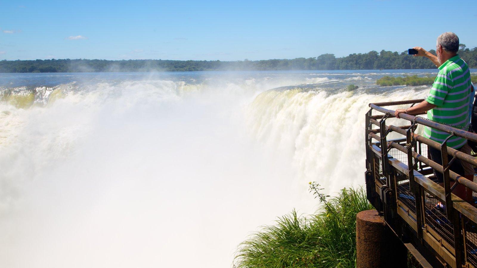 Garganta do Diabo caracterizando uma cachoeira, paisagens e paisagem