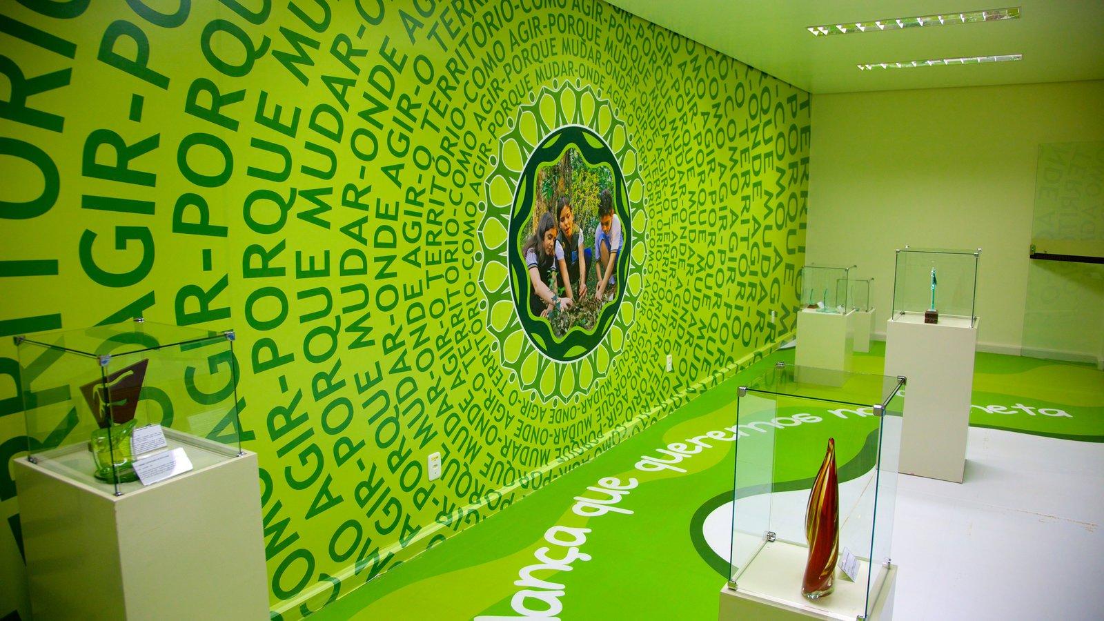 Ecomuseu mostrando vistas internas