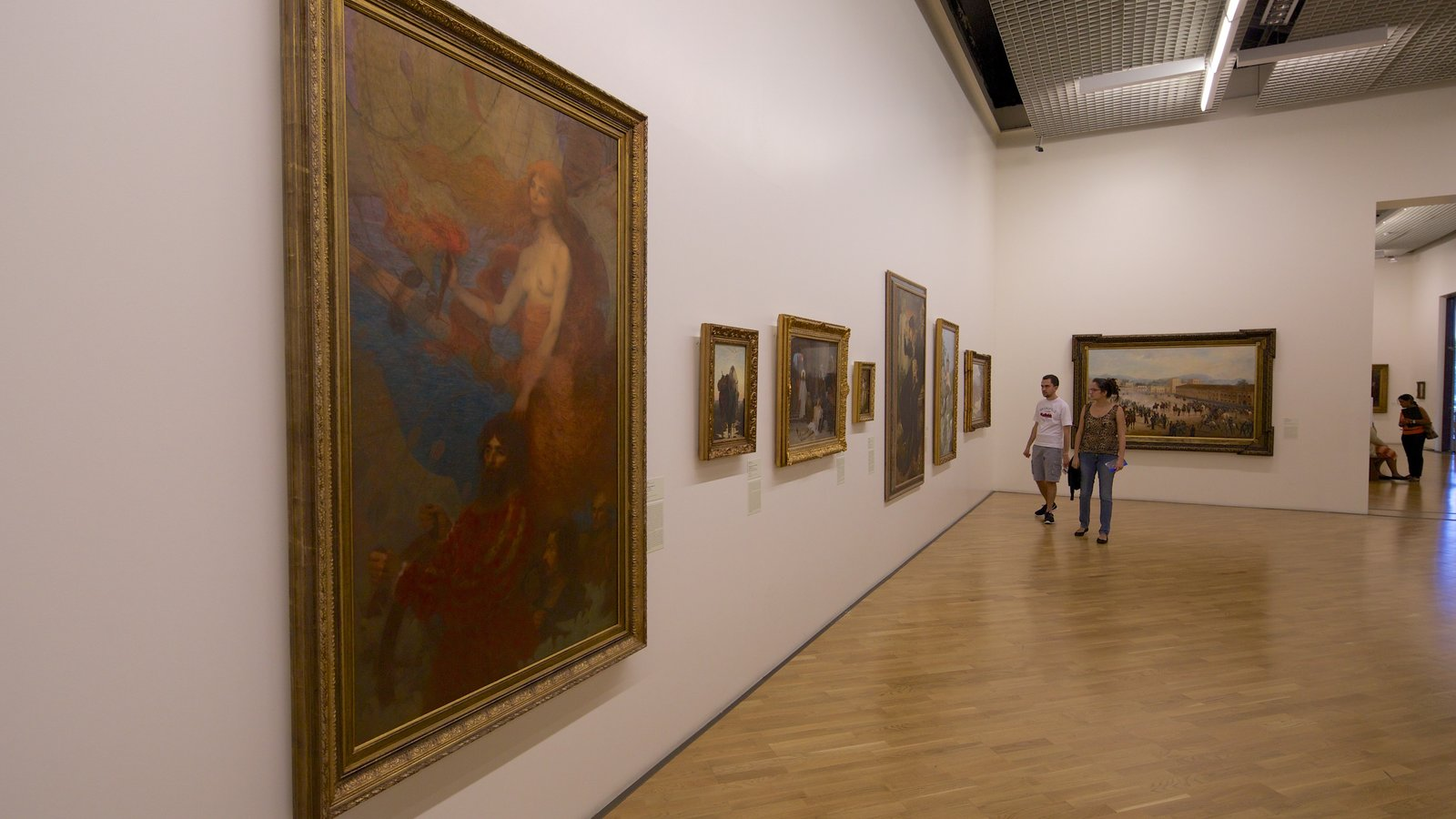 Pinacoteca do Estado que inclui vistas internas e arte
