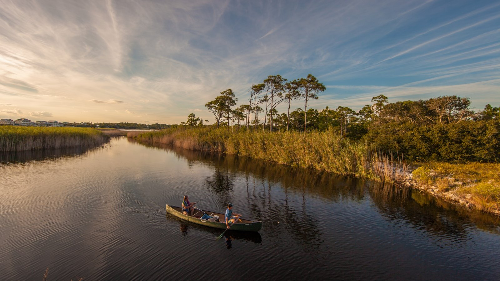 Grayton Beach State Park showing kayaking or canoeing and a river or creek