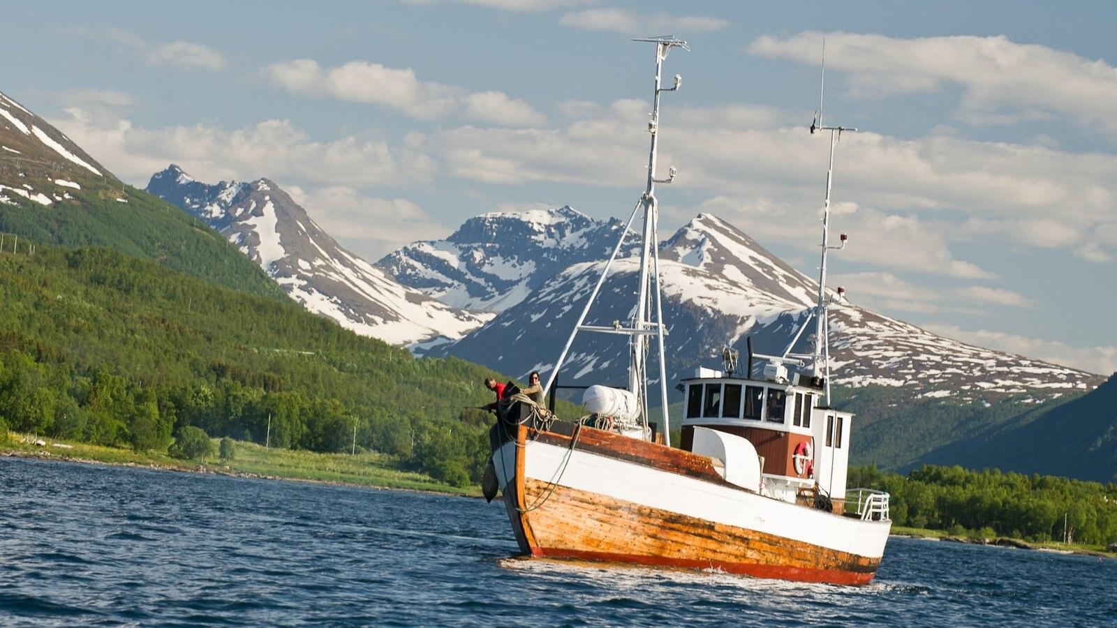 Tromso que inclui canoagem e paisagens litorâneas