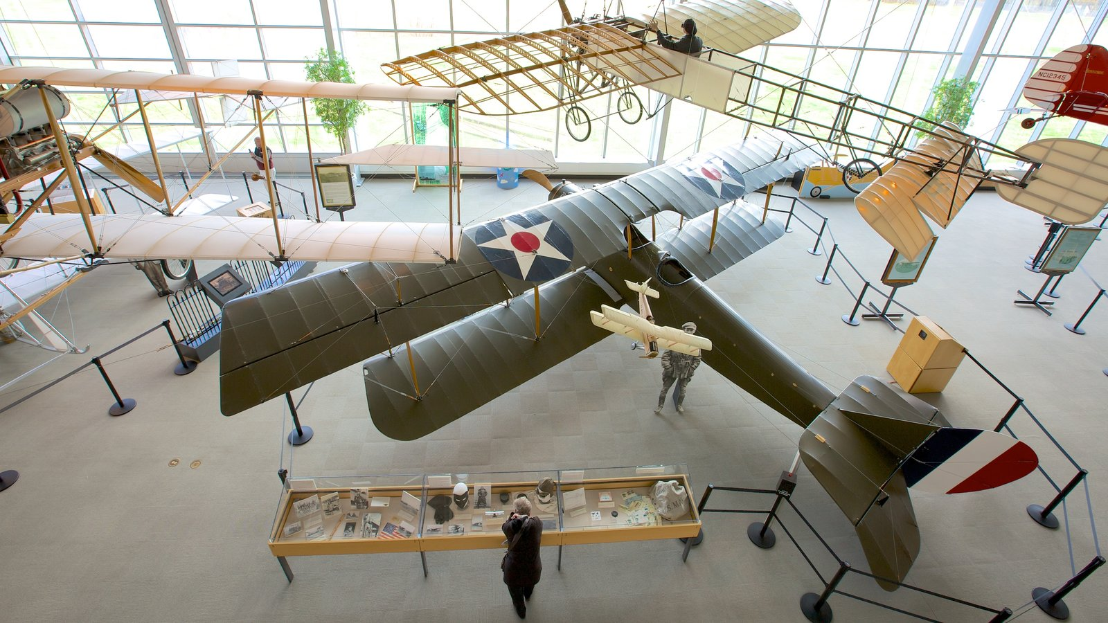 College Park Aviation Museum showing interior views, art and heritage architecture