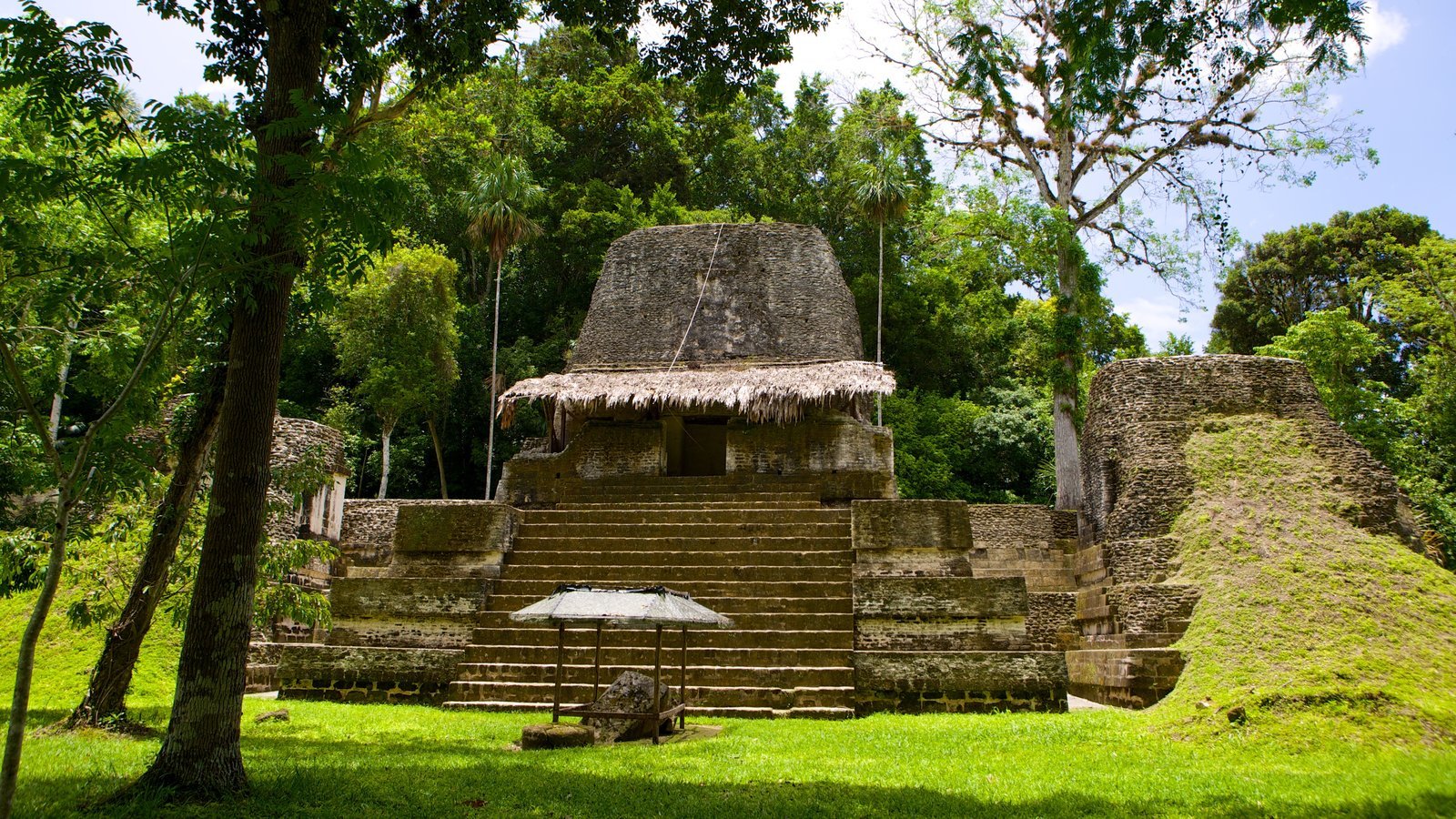 Tikal caracterizando ruínas de edifício e elementos de patrimônio