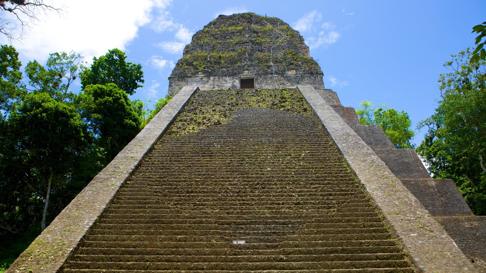 Tikal caracterizando uma ruína e elementos de patrimônio